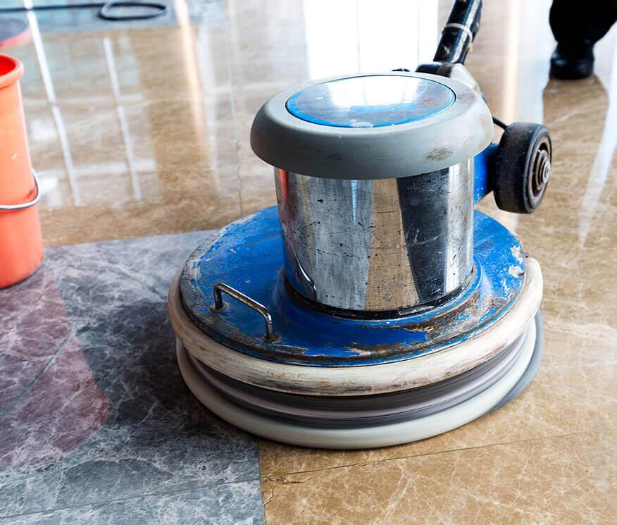 Custom Stone Floor Buffing