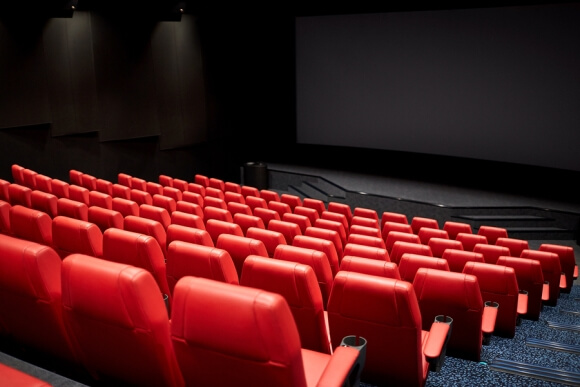 Clean Theater with Red Seats